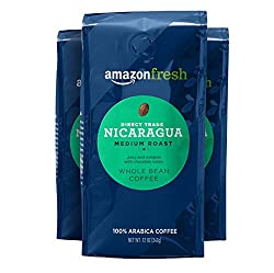 Image of the product AmazonFresh Direct Trade Nicaragua Whole Bean Coff that is listed on the catalogue brand of AmazonFresh.
