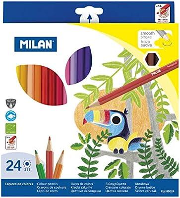 Milan 80024 - Pack de 24 lápices: Amazon.es: Oficina y papelería