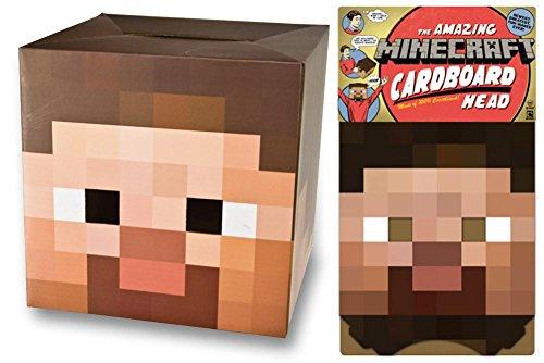 [Minecraft - Steve Head Mask 12 x 12in] (Adult Minecraft Costumes)