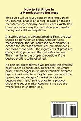 How to Set Prices in a Manufacturing Business - A Step by