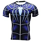 HOCOOL Men's Compression Sports Fitness Shirt Armor,Spider Super Heros T-Shirt S