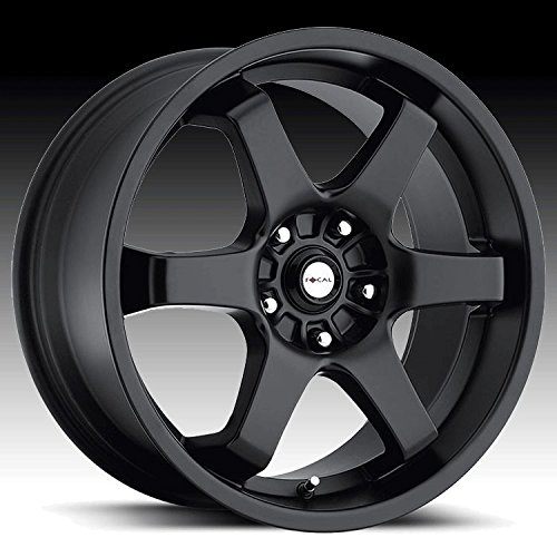 Focal X 16 Black Wheel / Rim 5x4.5 with a 42mm Offset and a 73 Hub Bore. Partnumber 421-6718B+42