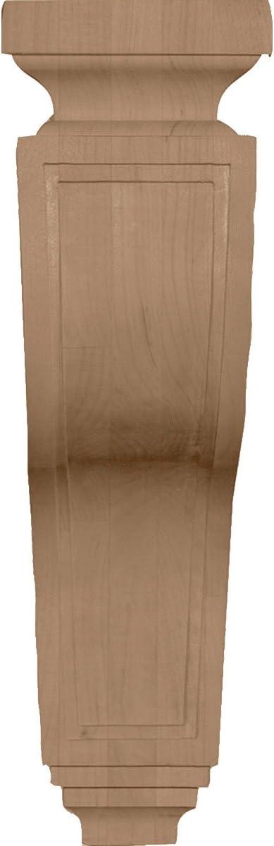 Rubberwood Ekena Millwork COR03X07X11HARW 3 1//2-Inch W x 7 1//4-Inch D x 11-Inch H Hollow Back Corbel