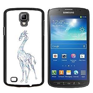 "Be-Star Único Patrón Plástico Duro Fundas Cover Cubre Hard Case Cover Para Samsung i9295 Galaxy S4 Active / i537 (NOT S4) ( Jirafa del dibujo del arte colorido Lápiz Azul"" )"