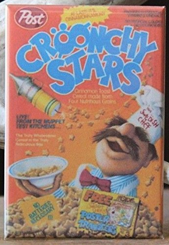 Croonchy Stars Cereal Box - Fridge / Locker Magnet. Sweish Chef The Muppets -