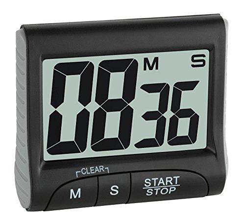 Elektronischer Timer mit Stoppuhr TFA 38.2021.01 schwarz