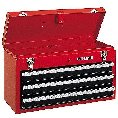 Craftsman  Drawer Metal Portable Chest Toolbox Red
