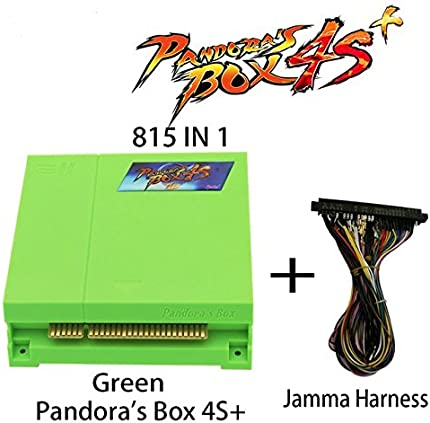 Wisamic Pandora's Box 4s Plus PCB Jamma Board with Jamma Harness 815 In 1 Multi Arcade Games VGA HDMI Output Arcade Cabinet - Green
