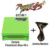 Wisamic Pandora's Box 4s Plus PCB Jamma Board with Jamma Harness 815 In 1 Multi Arcade Games VGA HDMI Output Arcade Cabinet - Green