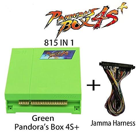 Wisamic Pandora's Box 4s Plus PCB 815 In 1 Multi Arcade Games Jamma Board with Jamma Harness VGA HDMI Output Arcade Cabinet - - Jamma Arcade Board