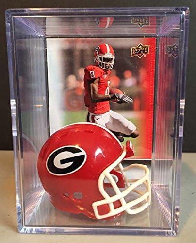 Georgia Bulldogs NCAA Helmet Shadowbox w// A.J Green card