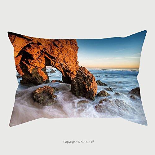 Custom Microfiber Pillowcase Protector Beautiful Golden Cave And Rocks At The El Matador Beach, Malibu At Sunset Time_17588180 Pillow Case Covers Decorative