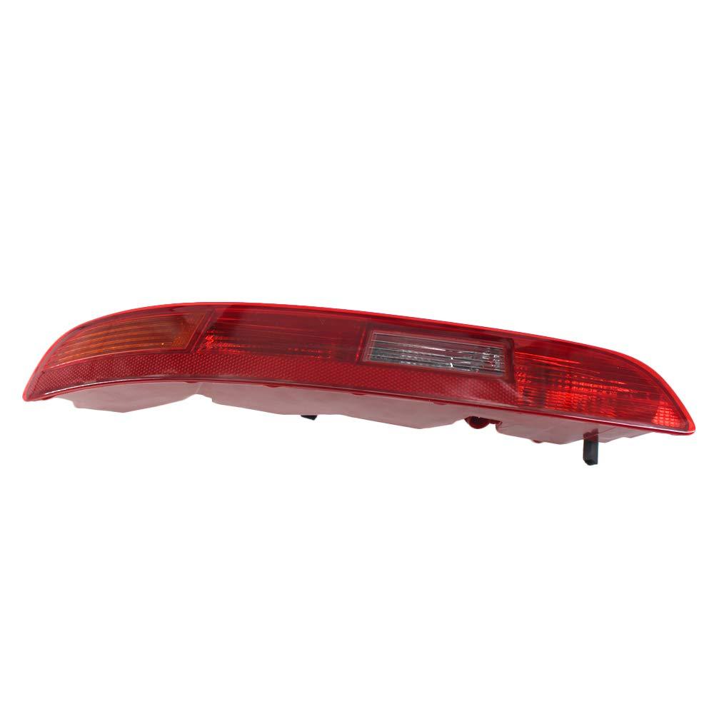 Carrfan Parachoques Trasero Izquierdo Luz ROJA Cola Luz antiniebla Parachoques Lateral Reflector Reflector Vivienda de reemplazo Compatible para Audi Q3 12-15