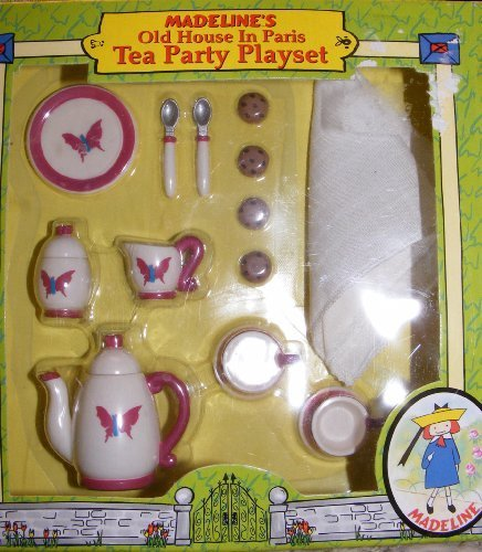 Madeline Tea Set (Madeline Doll Tea Party Playset for Dollhouse #33816)