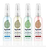 Aquinelle Toilet Tissue Mist - 4 Small 3oz Bottles- Environmentally Friendly & Non-Clogging Alternative to Flushable Wipes - Simply Spray On: Quilted Northern, Kleenex Or ANY Folded Toilet Paper