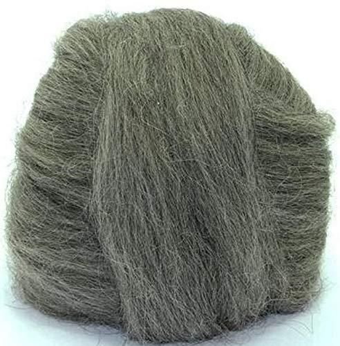 (4 oz Paradise Fibers Icelandic Wool Top - Dark Gray - Perfect for Woolen Yarn & Needle Felting)
