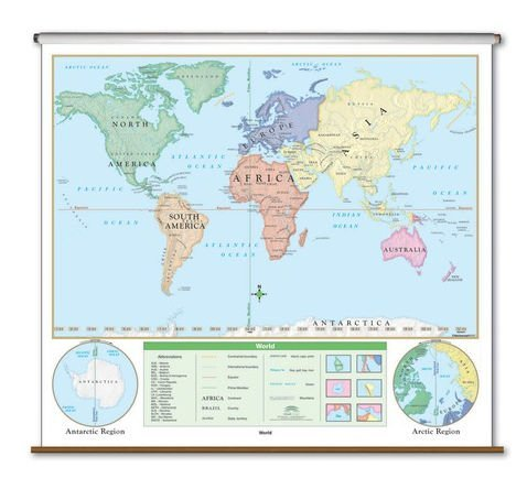 Beginner Wall Map - World by Universal Map