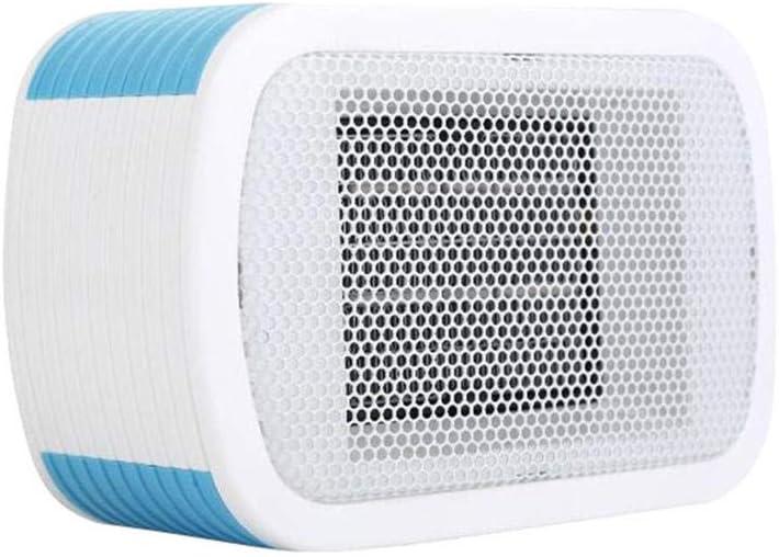 WQMMD Mini Ventilador Calentador Soplador Escritorio Inicio Enchufe de Pared Calentador Chimenea Radiador Calefacción rápida - Aire Caliente Soplado-Azul