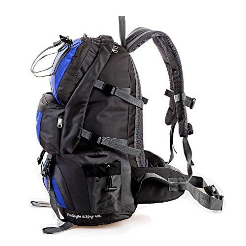 Mountaineering Bag 50L Outdoor Männer und Frauen Schulter Rucksack große Kapazität Wanderpackage Bergsteigen Taschen , blau