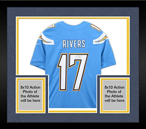 Framed Philip Rivers Los Angeles Chargers Autographed Nike Powder Blue Limited Jersey - Fanatics Authentic Certified ()