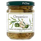 Organico Organic Garlic Stuffed Olives - 190g