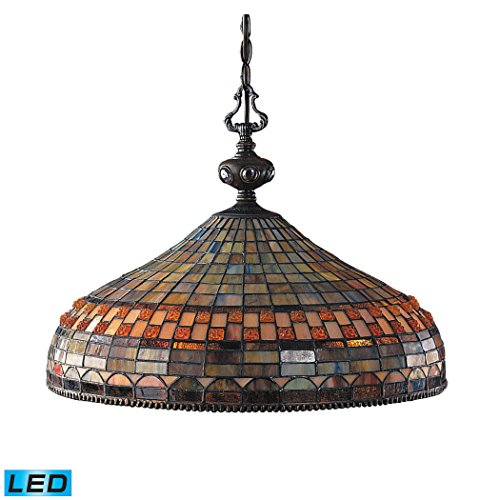 Jewelstone Collection - Alumbrada Collection Jewelstone 3 Light LED Chandelier In Classic Bronze