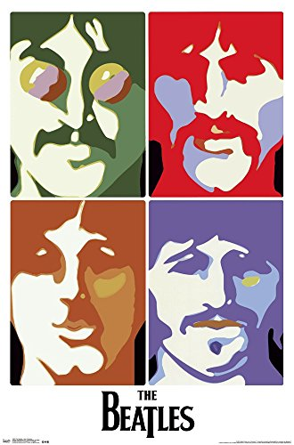 The Beatles   Sea Of Science Art Print  Size 22 X 34 Inches