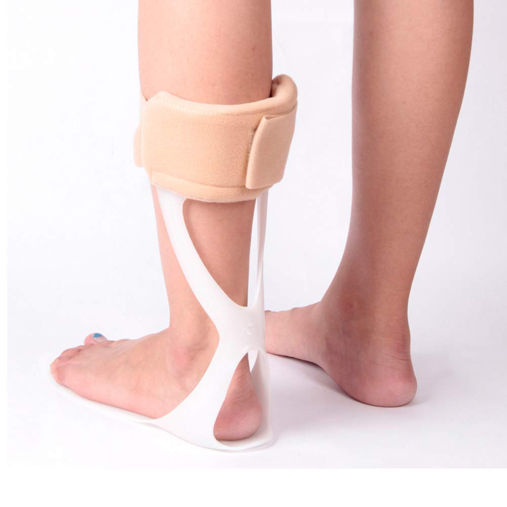 Brace Medical Ankle Foot Orthosis Support Drop Foot Postural Correction Brace, for Ankle Foot Fractures, Post Ligament, Tendon Surgery, Ankle Sprains Achilles Repairs ,Leftfoot,large(39to45yards)