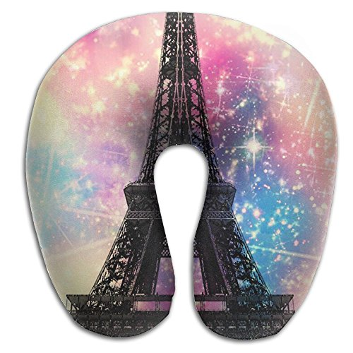 Tai Chi Tower (Hai Ni Memory Foam Neck Pillow Cushion Eiffel Tower City Comfy Soft U-Shape Cervical Pillow Head Support For Travel Office Home Sleeping)