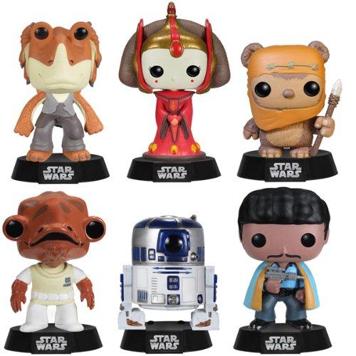 Star Wars Series 4 Funko Pop Complete Set (6) R2D2, Wicket, Lando Calrissian, Jar Jar Binks, Queen Amidala, Admiral Ackbar