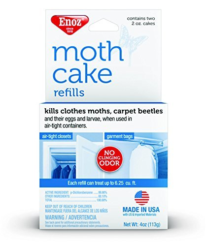 Enoz Moth Cake Refills Kills Clothes Moths, Carpet Beetles, and Eggs and Larvae ()