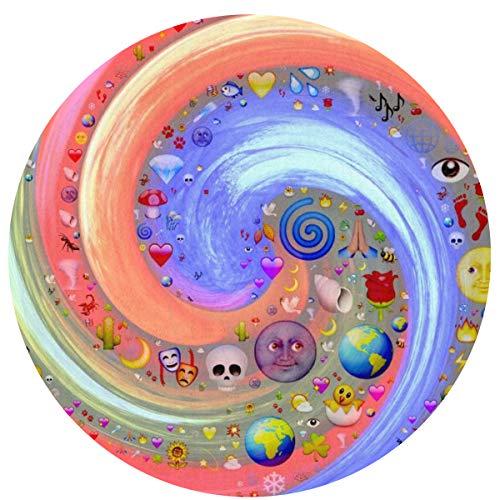 Round Area Rug,Swirl Spiral Twist Print Rugs Door Mat,Indoor Floor Area Rugs Blanket Bedroom/Living Room/Children Playroom - 2' X 2' -