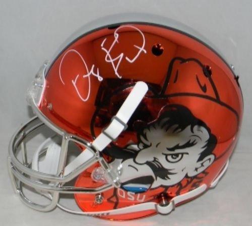 Dez Bryant Signed Oklahoma State Cowboys F/S Chrome Helmet Panini