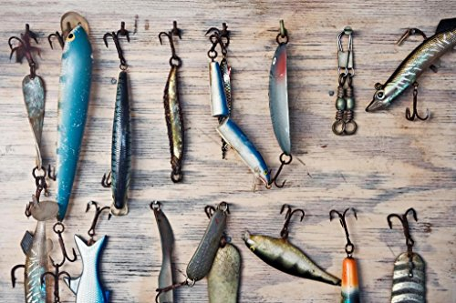- Trolling Spoons Lures Fishing Tackle Display Photo Art Print Mural Giant Poster 54x36 inch