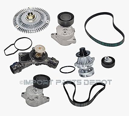 Amazon com: BMW Water Pump Fan Clutch Thermostat Belt
