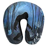 Wodehous Adonis Comfort Retro Into The Wood Bigfoot Sasquatch Memory Foam Neck Pillows Neck-Supportive Travel Pillow