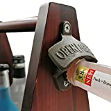 Wooden Beer Carrier - 6 Pack Beer Holder with