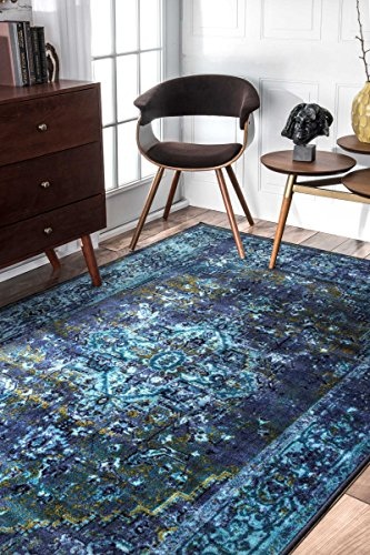 Traditional Vintage Inspired Overdyed Fancy Area Rug