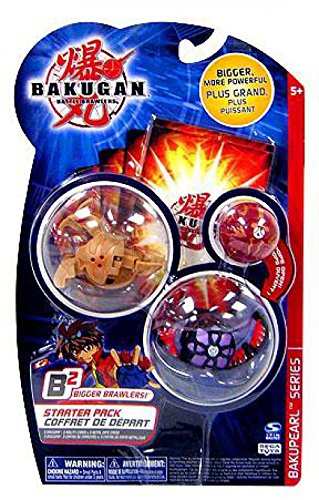 Bakupearl Starter Pack - Bakugan B2 Bigger Brawlers BakuPEARL Series Starter Pack 3 Random Figures 6 Cards