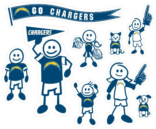 NFL San Diego Chargers Large Family Decal Set