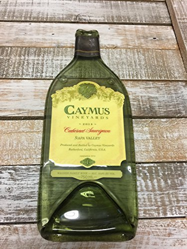 Sauvignon Napa Valley - Caymus 2014 Napa Valley - Cabernet Sauvigan Melted Wine Bottle Cheese Serving Tray - Wine Gifts