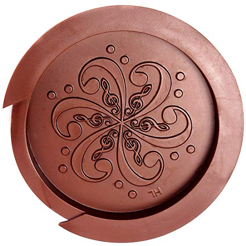 Soundhole Cover, YINGXIANG Guitar Mute Feedback Buster for Acoustic Guitar Accessories - 4 inch Flower Brown
