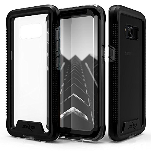 Zizo ION Series compatible with Samsung Galaxy S8 Case Military Grade Drop Tested with Tempered Glass Screen Protector BLACK SMOKE by Zizo