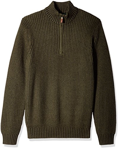 G.H. Bass & Co. Men's Rock Ridge 1/4 Zip Long Sleeve Sweater