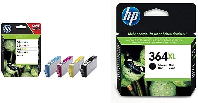 Hp 364xl Multipack Original Druckerpatronen 2x Schwarz Rot Blau Gelb Mit Hoher Reichweite Für Hp Deskjet Hp Officejet Hp Photosmart Bürobedarf Schreibwaren