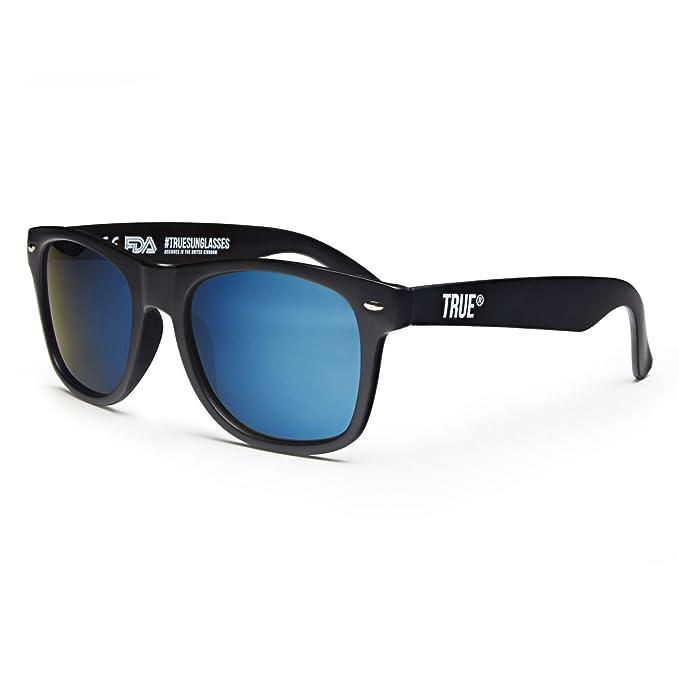 TRUE VISION Gafas De Sol Negras Polarizadas Reflejantes Estilo UV400