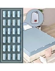 RCGvhfs Antislip bedlaken vaste clips, bedlaken houder riemen volledige grootte, bedlaken matrashoes dekens plastic grijpers, cliphouder voor full size bed eenvoudig te installeren en te houden vellen Snug blauw