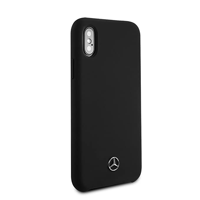 new arrival 804e7 841a6 Mercedes Benz iPhone X & iPhone Xs - by CG Mobile - Black Cell Phone Case  Silicone   Easily Accessible Ports   Officially Licensed.