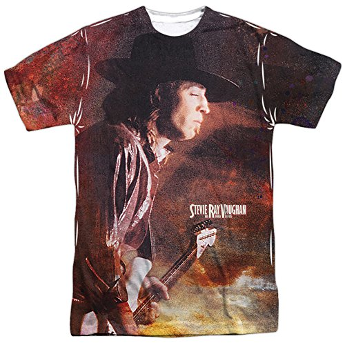 Stevie Ray Vaughan Weather Sublimation T-shirt (Front & Back), Large