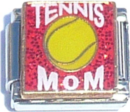 Tennis Mom On Pink Italian Charm